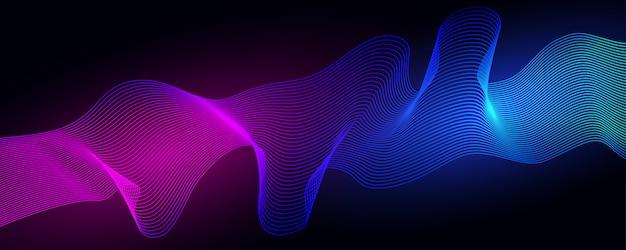 Fundo colorido ondas dinâmicas. ilustração abstrata geométrica