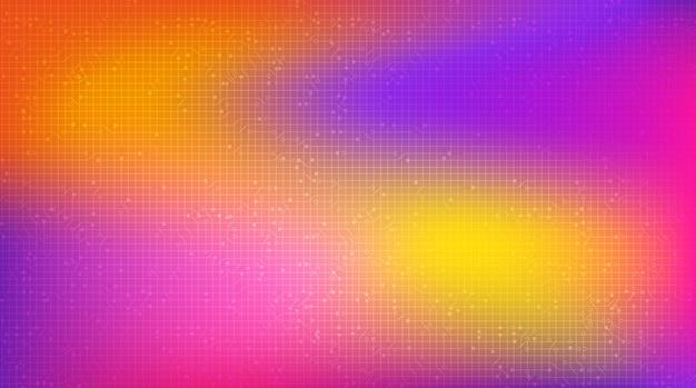Fundo colorido ondulante, digital e tecnologia