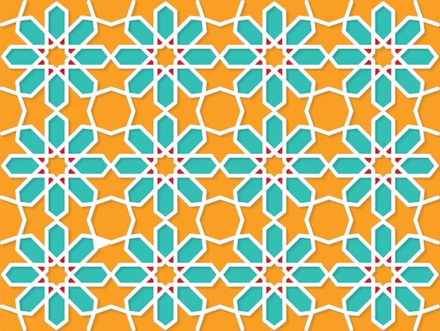 Fundo colorido padrão islâmico