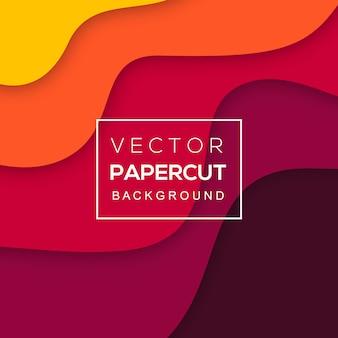 Fundo colorido papercut vector