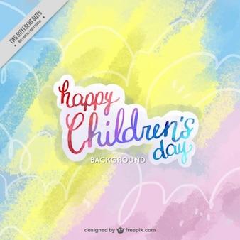 Fundo colorido para o dia das crianças