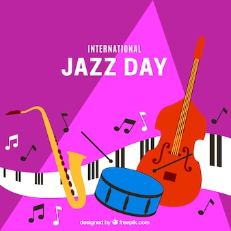 Fundo colorido para o dia internacional do jazz