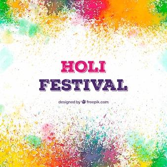 Fundo colorido para o festival holi