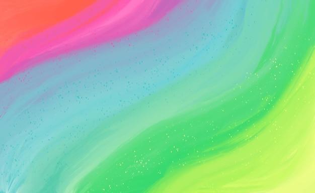 Fundo colorido pintado à mão