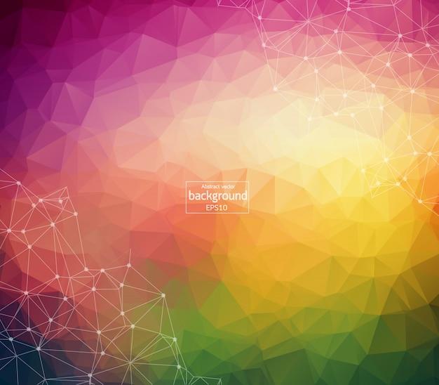 Fundo colorido poligonal abstrato