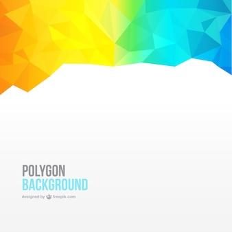 Fundo colorido polígono