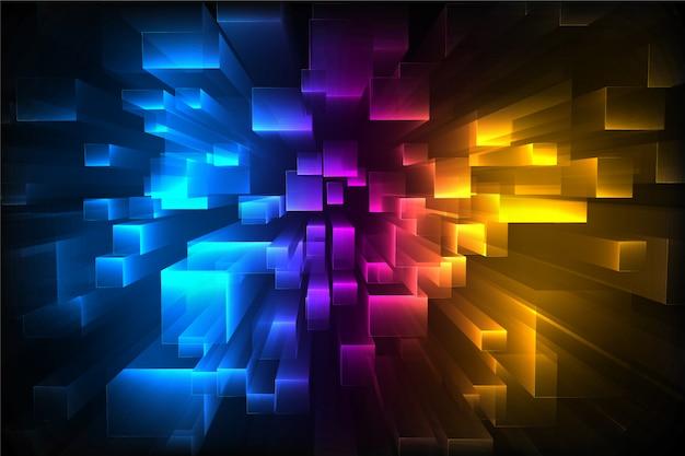 Fundo colorido quadrados 3d