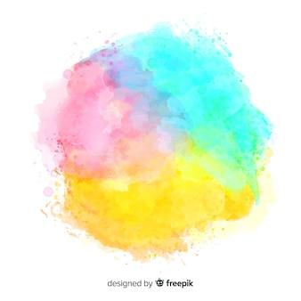 Fundo colorido respingo aquarela