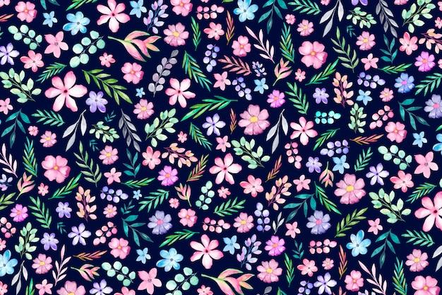 Fundo colorido servindo de impressão floral. fundo floral com flores pequenas.
