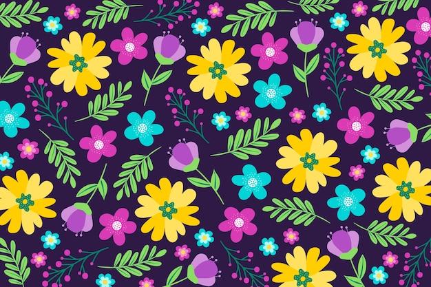 Fundo colorido servindo de impressão floral