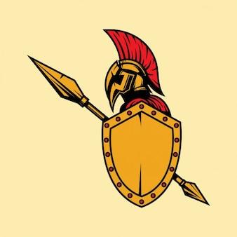 Fundo colorido soldado romano