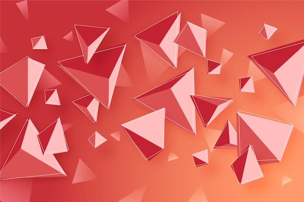 Fundo colorido triângulo 3d