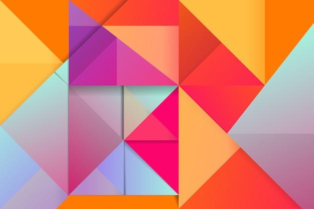Fundo colorido triângulo com cores vivas