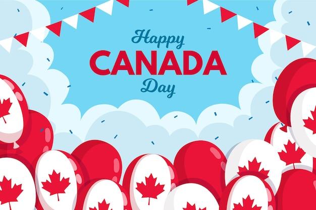Fundo com balões para o dia do canadá