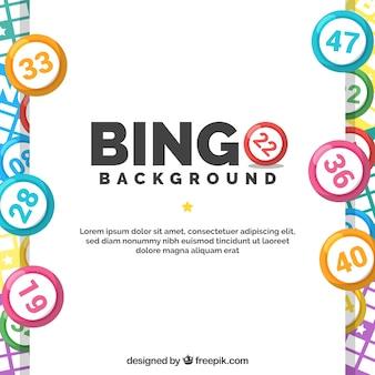 Fundo com bolas de bingo coloridas