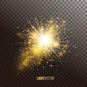 Fundo com brilhos e glitter