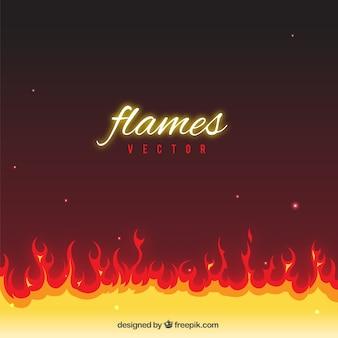 Fundo com chamas