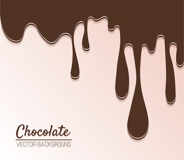 Fundo com chocolate derretido