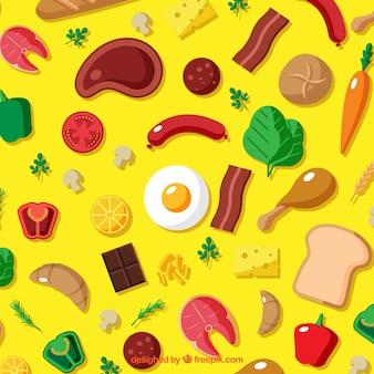 Fundo com comida diferente