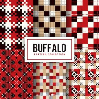 Fundo com conceito de padrão de búfalo