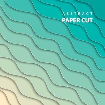 Fundo com corte de papel de cor gradiente