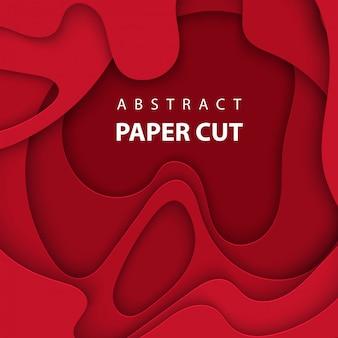 Fundo com corte de papel de cor vermelho escuro