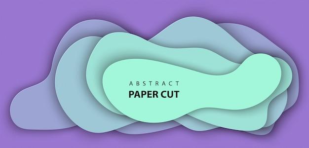 Fundo com corte de papel neon lilás e turquesa