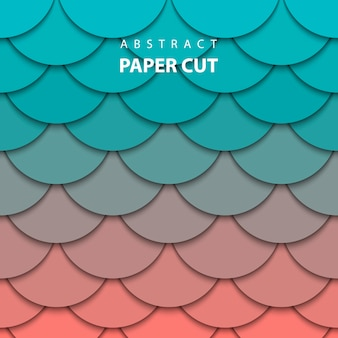 Fundo com corte de papel turquesa e coral