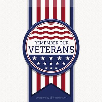 Fundo com crachá do dia dos veteranos
