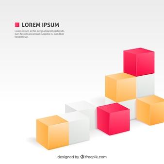 Fundo com cubos
