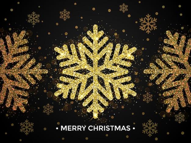 Fundo com decoração dourada de natal