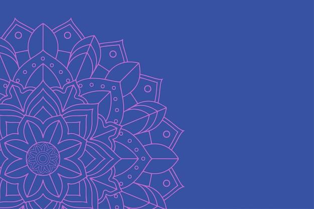 Fundo com desenhos de mandala