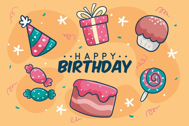 Fundo com design de aniversário