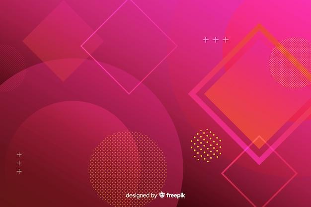 Fundo com design de formas geométricas gradientes