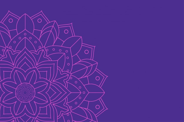 Fundo com design de mandala