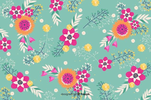 Fundo com design floral artístico