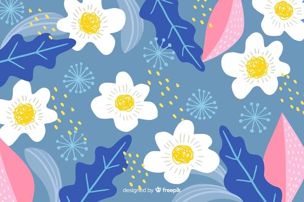 Fundo com design floral