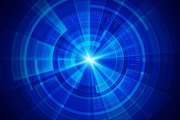 Fundo com detalhes futuristas de tecnologia