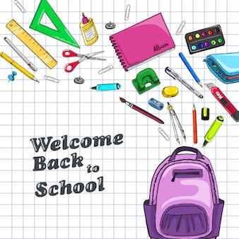 Fundo com disciplinas escolares