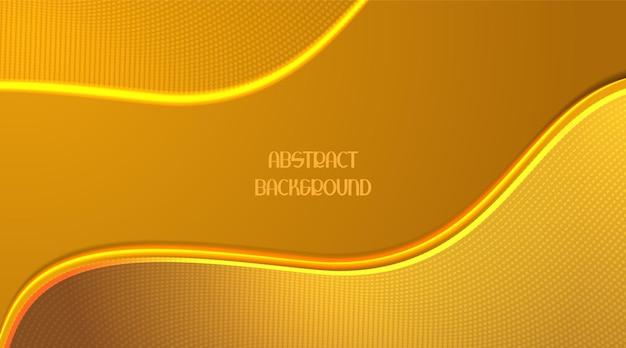 Fundo com efeito de onda dourada