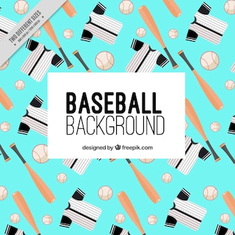 Fundo com elementos de beisebol