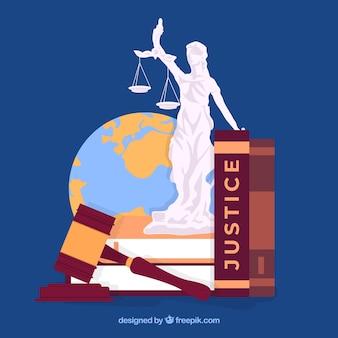 Fundo com elementos de defesa de direitos