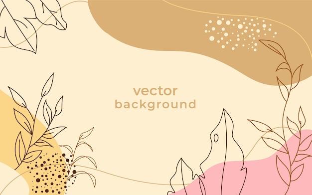 Fundo com emblema floral abstrato