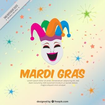Fundo com engraçado máscara do carnaval