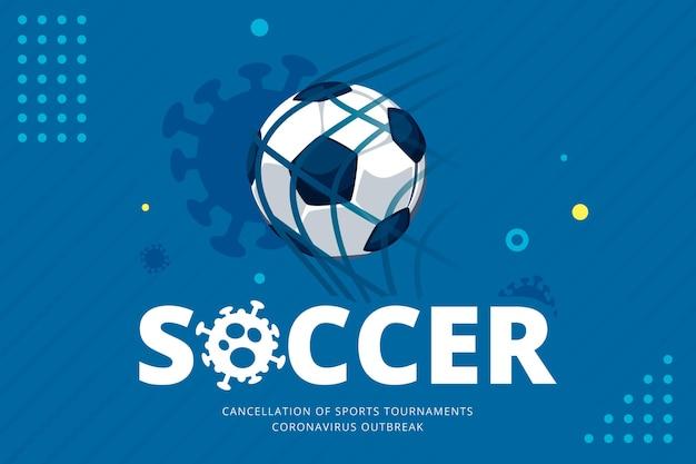 Fundo com eventos esportivos cancelados