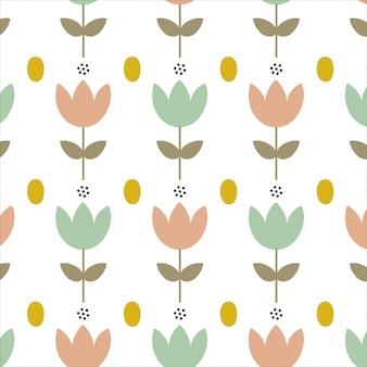Fundo com flores simples da primavera