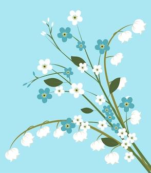 Fundo com flores