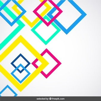 Fundo com fluor delineado quadrados