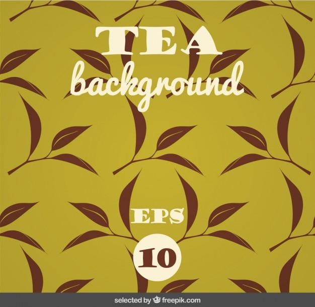 Fundo com folhas de chá