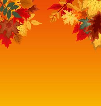 Fundo com folhas de outono caindo